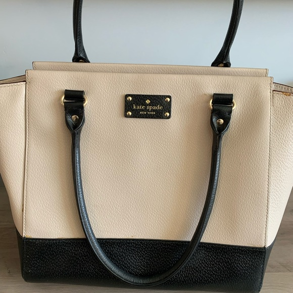 Kate spade two toned leather tote style purse